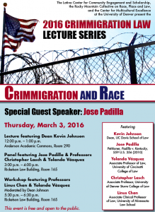 Crimmigration Law Lecture Series - March 3, 2016